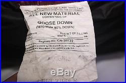 WESTERN MOUNTAINEERING Megalite 6'6LONG DOWN SLEEPING BAG. EXTREMELITE SERIES