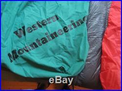 WESTERN MOUNTAINEERING Sequoia Sleeping Bag 6'6 RIght-Zipper GOOSE DOWN