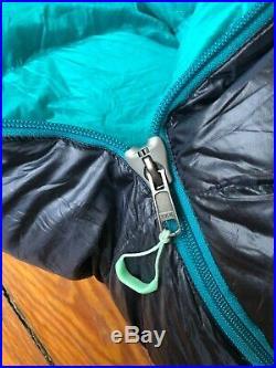 WOMENS Magma DOWN REI Teal / Blue 17 Degree Reg. Length Gently Used Sleeping Bag