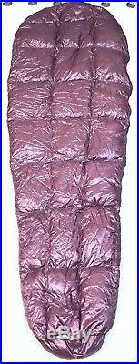 Western Mountaineering 35 °F 6 Feet Long Half Zip Light Sleeping Bag Purple