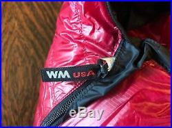 Western Mountaineering Alpinlite 20 Degree Cranberry Sleeping Bag 6FT/6IN/RHZ