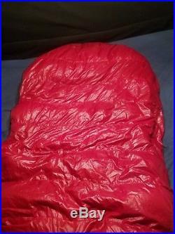 Western Mountaineering Apache MF 15 degree sleeping bag 6ft left zip