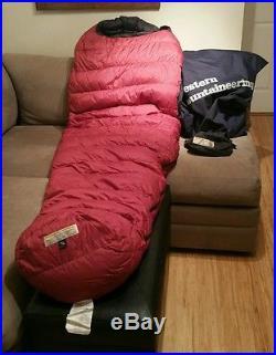 Western Mountaineering Apache MF 6'6 Long LH Zip 15 degree down sleeping bag