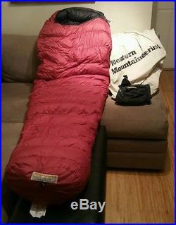 Western Mountaineering Apache MF 6' LH Zip 15 degree down sleeping bag