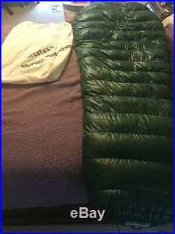 Western Mountaineering Badger MF 15 degree mummy sleeping bag. Used 8 nights