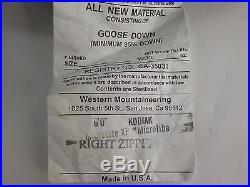Western Mountaineering Kodiak MF Sleeping Bag 0 Degree Down /33921/