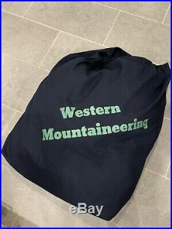 Western Mountaineering MegaLite Down Sleeping Bag 30 Degree Navy Blue, 6 foot