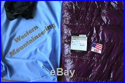 Western Mountaineering Megalite sleeping bag 30F 850+ goose down RZ 6' size