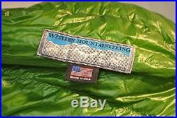 Western Mountaineering VersaLite 60 down sleeping bag, right zip