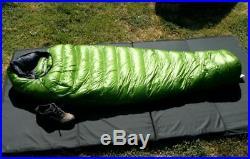 Western Mountaineering Versalite 10 degree mummy sleeping bag. 6' left zip