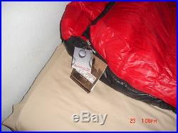 Western mountaineering Apache 15 degree Down Sleeping Bag 6'6 Right zip NWT