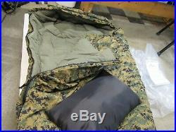 Wiggys USMC Woodland Marpat Sleeping Bag Superlite Lamilite REG WB Pillow & Sack