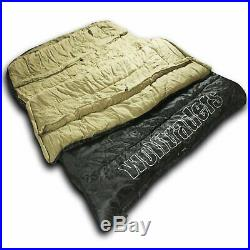 Wolftraders TwoWolves 0 Degree 2-Person Premium Ripstop Sleeping Bag Black/Tan