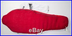 Women's REI Radiant Plus 10 10F LONG 650 Duck Down Sleeping Bag Backpacking RED