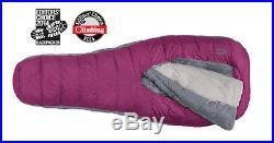 Women's Sierra Designs Backcountry 3-Season Sleeping Bag, 600 fill, Purple color