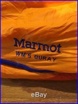 Women's Wm's MARMOT OURAY REGULAR Orange 0 Degree 650 Down Fill Sleeping Bag