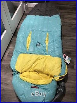 Womens Regular Nemo down sleeping bag. 30F with Nikwax and Thermo Gills