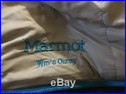 Womens marmot ouray 0F sleeping bag, down