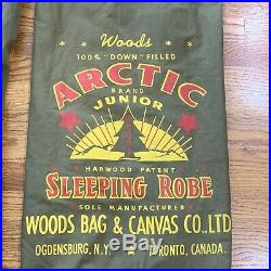 Woods Arctic 2 Stars Down Sleeping Bag & Case Abercrombie & Fitch Vintage RARE