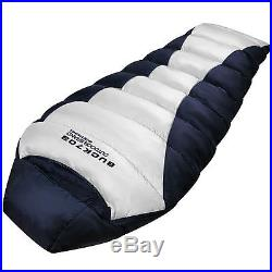 XXL Goose Down Sleeping bag 4Season Backpacking Camping Lightweight Mummy Ultra