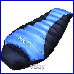 XXXL Goose Down Sleeping bag Large 225cm Camping Backpacking Mummy Lightwieght